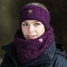Equetech Ladies Contour Knit Headband & Loop Scarf Set- Mulberry