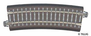 Tillig 83707 Bettungsgleis Bent R22 R353mm 15° IN Tt Brand New