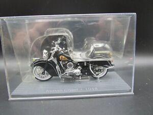 IXO BLACK INDIAN CHIEF MOTORBIKE 1-24 SCALE MOTORCYCLE MODEL 1948