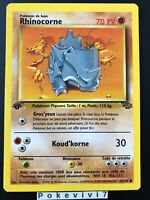 Carte Pokemon RHINOCORNE 61/64 Commune Jungle Wizard EDITION 1 FR NEUF
