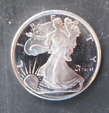 Beauty! Lot of 2 SILVER EAGLE 3 Gram Rounds