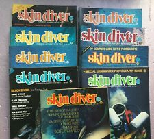 Vintage Skin Diver Magazine 9 issues April 1979 through December 1979
