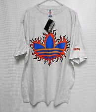 vtg adidas Tennis T Shirt Too Hot to Handle 90s hip hop XL NOS NWT agassi tee