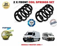 FOR RENAULT MASTER BUS VAN CHASSIS 1998-> 2X FRONT LEFT RIGHT COIL SPRINGS SET
