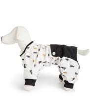 MACY'S Family Pajamas Tree Print Pet Pajama Set sz L Large Christmas Holiday Dog