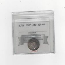 **1938**, Coin Mart  Graded Canadian,  10  Cent, **EF-40**