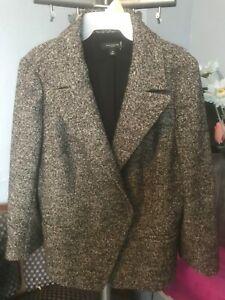 Women's Gray (Ann Taylor) Skirt Suit, Size 14/16
