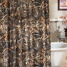 """Realtree Max-4 HD Fabric Shower Curtain 72"""" x 72"""" Advantage Camo Rustic Cabin"""