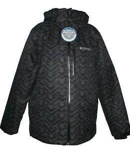 Men's Columbia Hardpack Ski Omni Heat Tech Hood Winter Ski Jacket NWT Black