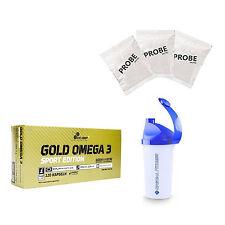 10,11€/kg Olimp Gold Omega 3 Sport Edition 120 Kapseln + Bonus SHAKER + 3 Proben