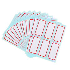 72 Pcs=12 Sheet White Self Adhesive Stickers Name Label Stickers Stationery