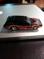 Hot Wheels Sedan Delivery BLACK w/ FLAMES Real Riders