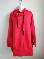 $168 NWT Breakkfast In Tokyo Red Cowl Neck Sweat Shirt Women's Sz 5 Cotton Blend