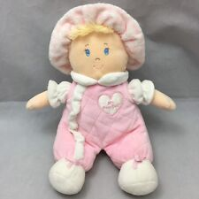 """My First Doll Baby Pink White Heart Chest Plush 11"""" Toy Lovey First Impressions"""