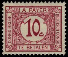 "BELGIAN CONGO J2i (Mi P2i) - Numeral ""Postage Due""  Carmine (pa90382)"