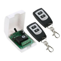 12V Remote Control Switch,Wireless 2 RF Relay Transmitter+1 Receiver Module