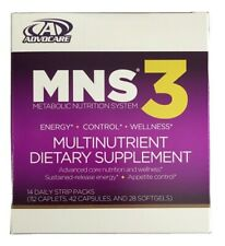Advocare Nutrition System Metabolic Dietary Supplement MNS3 Energy Appetite NEW