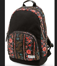 NEW Black Print Schoolyard Canvas Womens Backpack new with tags on