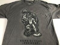 Disney Expedition Everest T-Shirt Adult XS/S Yeti Gray Black Land World Big Foot