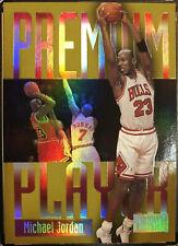 1997-98 Skybox Premium Players Michael Jordan. Awesome Refractor Like Card!
