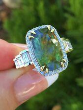 18K GOLD AAA+ 8.27 CT GIA CERTIFIED RARE GREEN  DEMANTOID GARNET DIAMOND RING!!