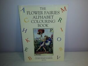 Vintage 1990s The Flower Fairies Alphabet Colouring Book, Cicely Mary Barker