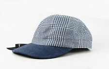 KITON NAPOLI 30% CASHMERE & 70% WOOL BLUE BASEBALL CAP HAT SIZE 58 M-L ITALY NEW