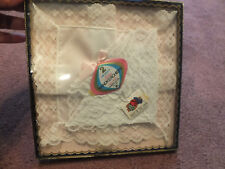 Collectible Ladies Handkerchiefs Set of 2 Wedding Lace Original Box Full Size