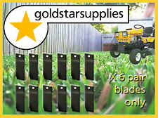 6 x prs GREENFIELD ride on mower BLADES only  (Original Part Number GT2139)