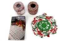 Craft Project Lot 2 Rolls Crochet Thread Partially Complete Doily Pattern Book
