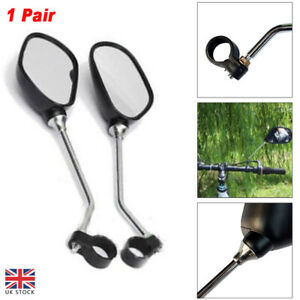 1 PAIR BICYCLE MOBILITY SCOOTER MOUNTAIN BIKE HANDLEBAR REAR VIEW MIRROR SAFETY