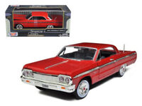 ANAA-73259R-1964 Chevrolet Impala Red 1/24 Diecast Model Car by Motormax