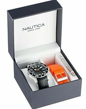 "Brand Nautica Quartz Men's N11562G ""NST 07 BOX SET"" Classic Analog Watch WR 100M"