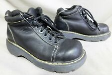 WOMENS DR MARTENS 8542 BLACK LEATHER WORK HIKING BOOTS SIZE 8