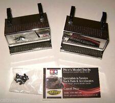 Tamiya 1/14 Chrome Steps Battery Boxes King Hauler 56301