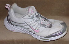 NIKE WOMENS WALK WALKING SHOES IN WHITE / GRAY / PINK SIZE-8.5