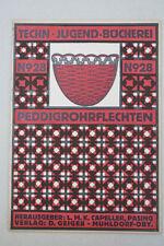 Techn.Jugendbücherei Nr. 28 Peddigrohrflechten