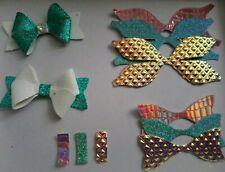 X10 Tissu Precut Bow modèles avec pince crocodile Paillettes tissus
