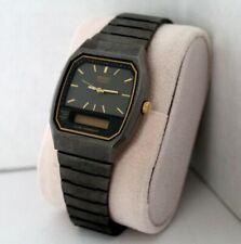Seiko Quartz H601-5749 Japan Chronograph Watch VTG Digital Analog Square Dual