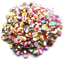 60 BEAUTIFUL MIXED FIMO POLYMER CAKE BEADS - ALL VARIETIES - FAST FREE P&P