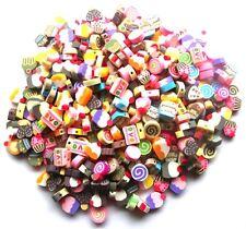 60 bellissimi Misto Fimo Polymer torta perline-tutte le varietà-veloce GRATIS P&P