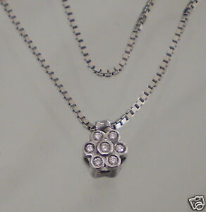 Chain And Flower - Pink White Gold 18KT with Diamonds