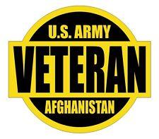 US Army Afghanistan Veteran Hard Hat Decal / Label / Motorcycle Helmet Sticker