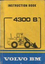 VOLVO BM 4300B WHEEL LOADER OPERATORS MANUAL - 4300 B