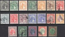 Malaya Perak 1938 1c - $5 (19) Iskandar SG 103-121 Sc 84-98 VFU* Cat £500($750)