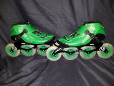 Vanilla Carbon Inline Speed Skates - Size 8 Green