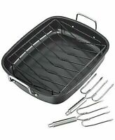 The Pioneer Woman Timeless NonStick Roaster w// Wire Rack Insert 14.4x18.1x5.3