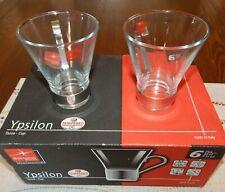 Bormioli Rocco Ypsilon Cappuccino Mugs w/ Removable Metal Handle | Set of 6 NIB