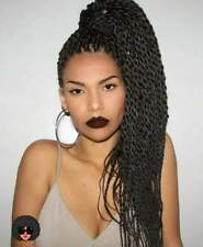 Fashion Lace Front Afro Twist Braided Wig Black Wig Full Wigs For Black Women