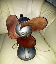 Vintage Soviet Russian Electric Fan Ventilator ВЭ-1Model Rubber Blade Metal Body